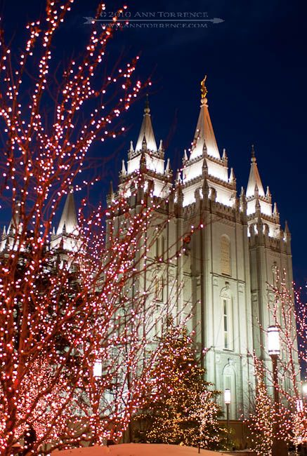 Christmas Lights at Temple Square, Salt Lake City, Utah - Christmas Lights At Temple Square, Salt Lake City, Utah Christmas