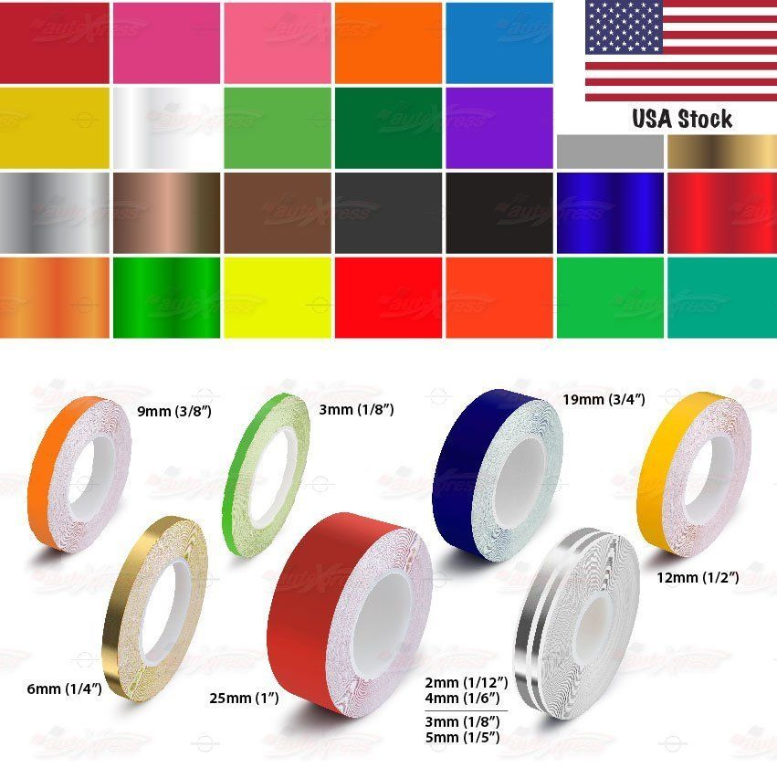 Roll Pin Stripe Car Model Pinstriping Diy Styling Decal Line Tape Vinyl Stickers Diy Styling Vinyl Sticker Car Pinstriping