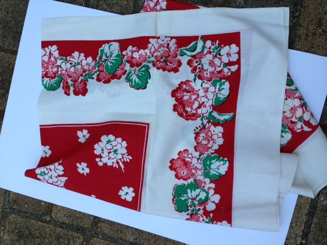 Red and green table cloth