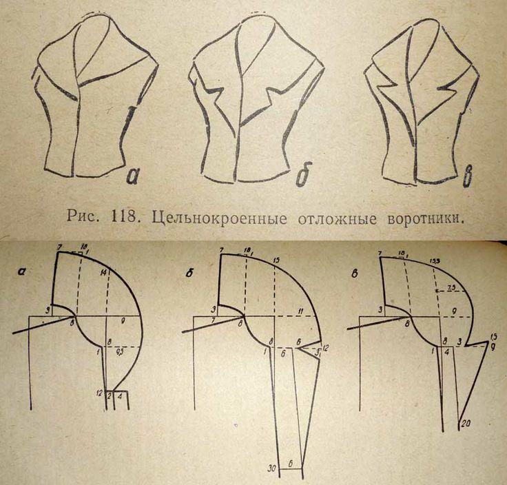 single cut turn-down collar   moldes   Pinterest   Kragen ...