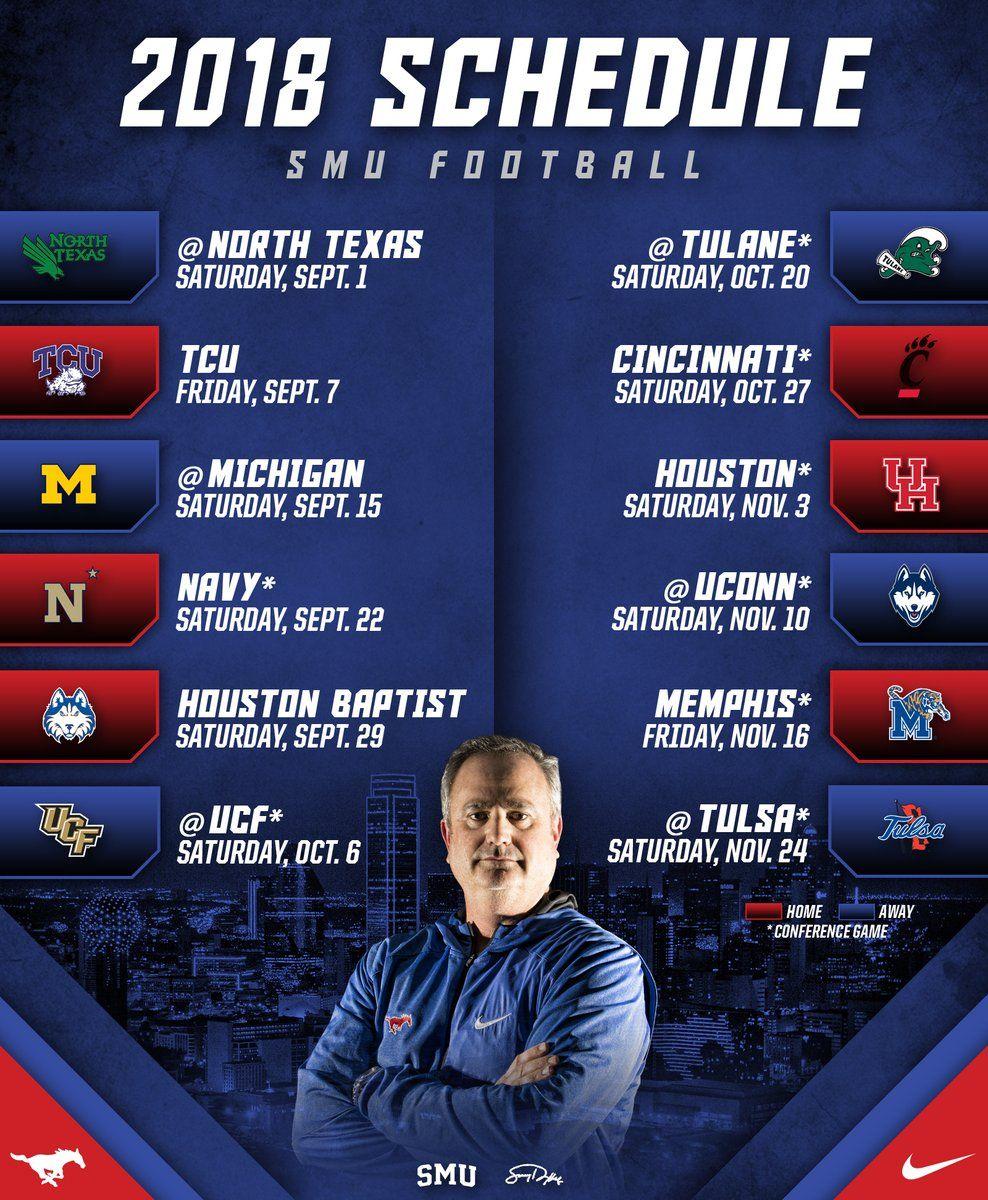 AAC Football 2018 Schedules Football, American