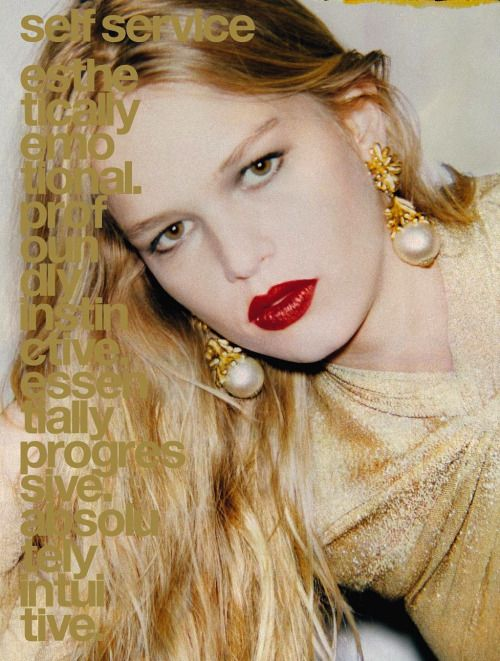 Anna Ewers by Ezra Petronio for Self Service #44