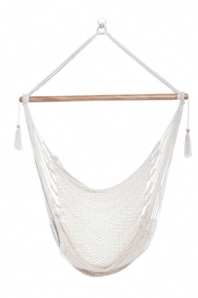 Astounding Hanging Hammock Chair Organic Cotton Bright White In 2019 Alphanode Cool Chair Designs And Ideas Alphanodeonline