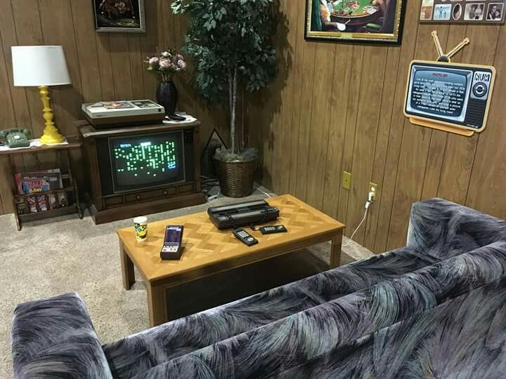 80s Living Room With An Intellivision At The National Video Game Museum In TX