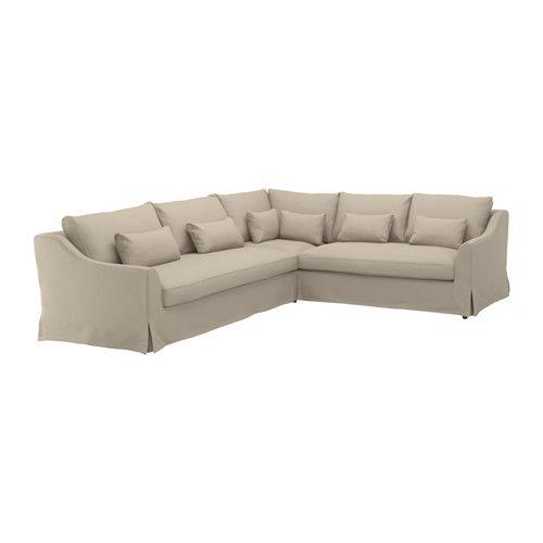 Leather Sofa F RL V Sectional seat sofa left Flodafors beige