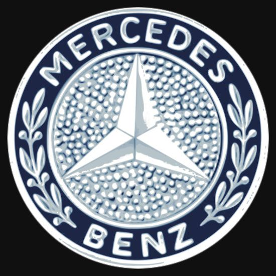 Classic Car Logos Mercedes Benz T Shirt By Brookestead Car