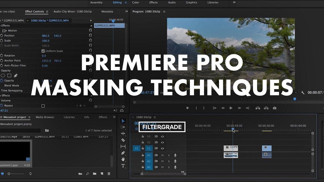 Premiere Pro Masking Techniques for Adjustments and