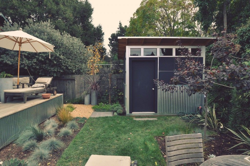Backyard studios home office sheds reimagined modern for Prefab garden sheds