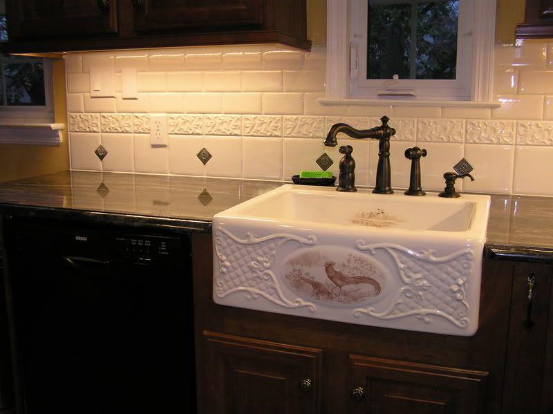 Images Of Bathrooms Using Subway Tile  The Nest  Buying A Home Glamorous Kitchen Sink Backsplash Design Inspiration