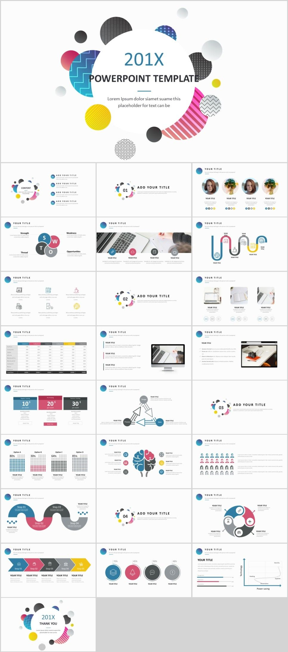 26 best business swot creative powerpoint template ppt版式设计