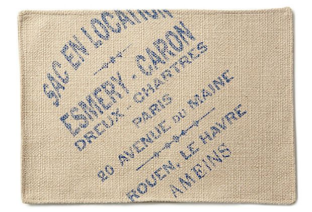 S 4 French Place Mats Blue Placemats French Country Decorating French Words