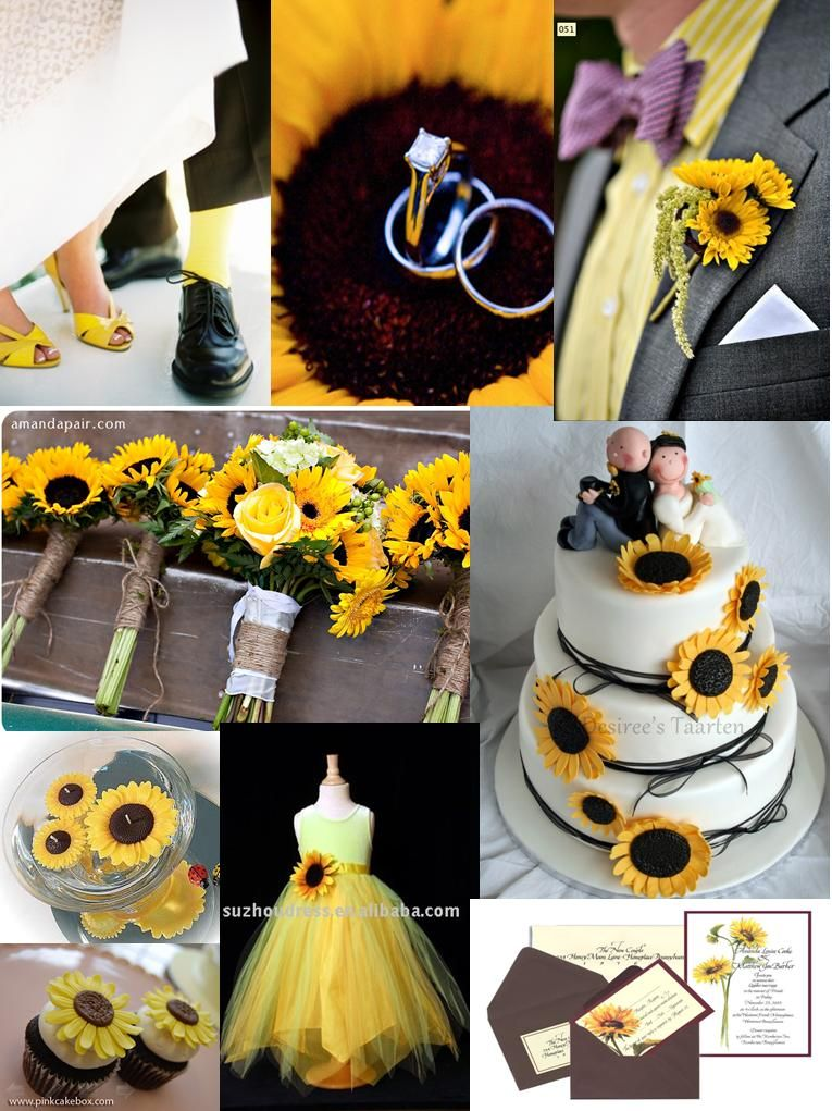 sunflower wedding invitations printable%0A Sunflower Wedding  If I had it to do over again  I would have picked a  sunflower theme  Maybe for my year vow renewal