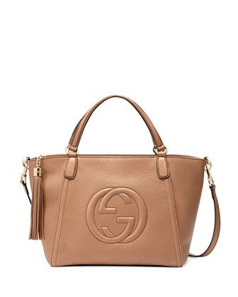 905f76a912e198 Soho Small Crossbody Tote, Beige by Gucci at Neiman Marcus. |