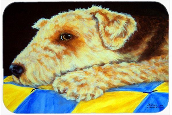 Airedale Terrier Momma's Quilt Mouse Pad - Hot Pad or Trivet AMB1174MP #artwork #artworks