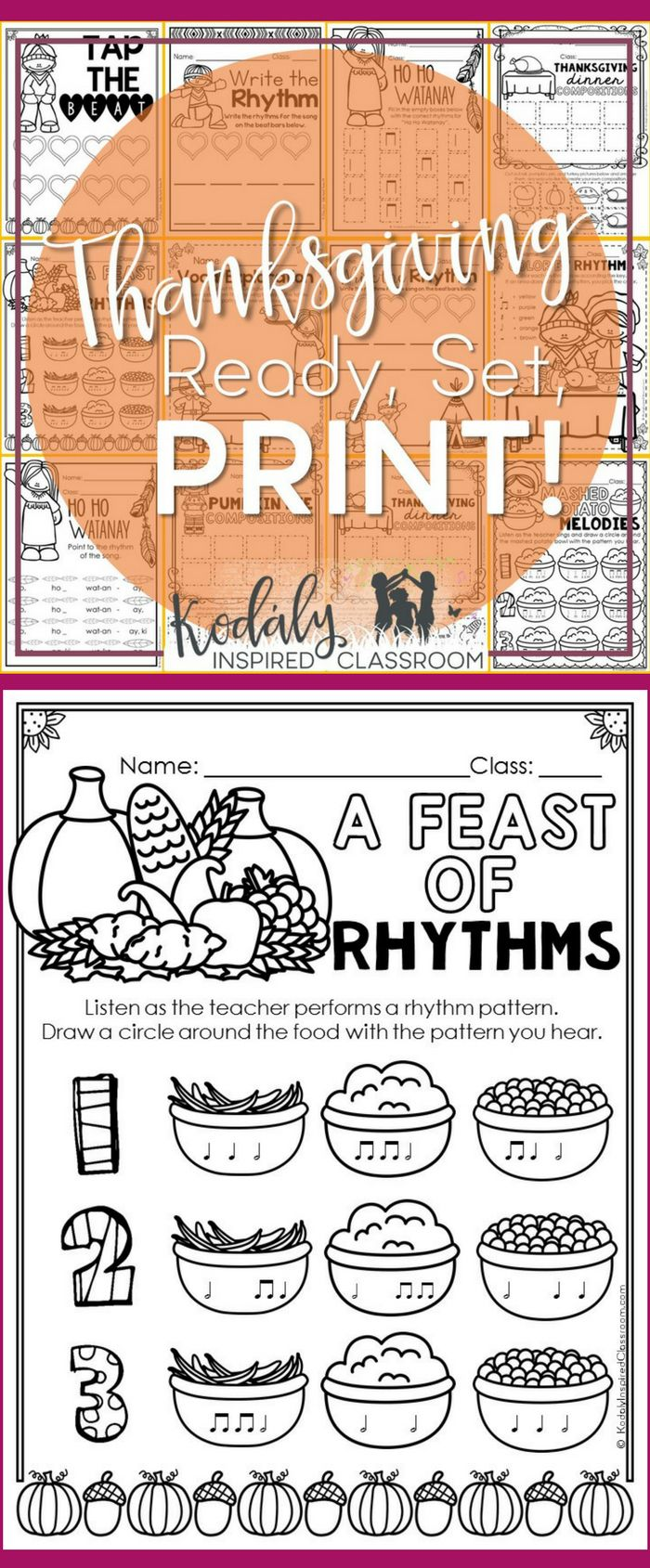 Worksheets General Music Worksheets music worksheets for thanksgiving ready set print in 2018 elementary and november this of includes pages steady beat rhythm pract