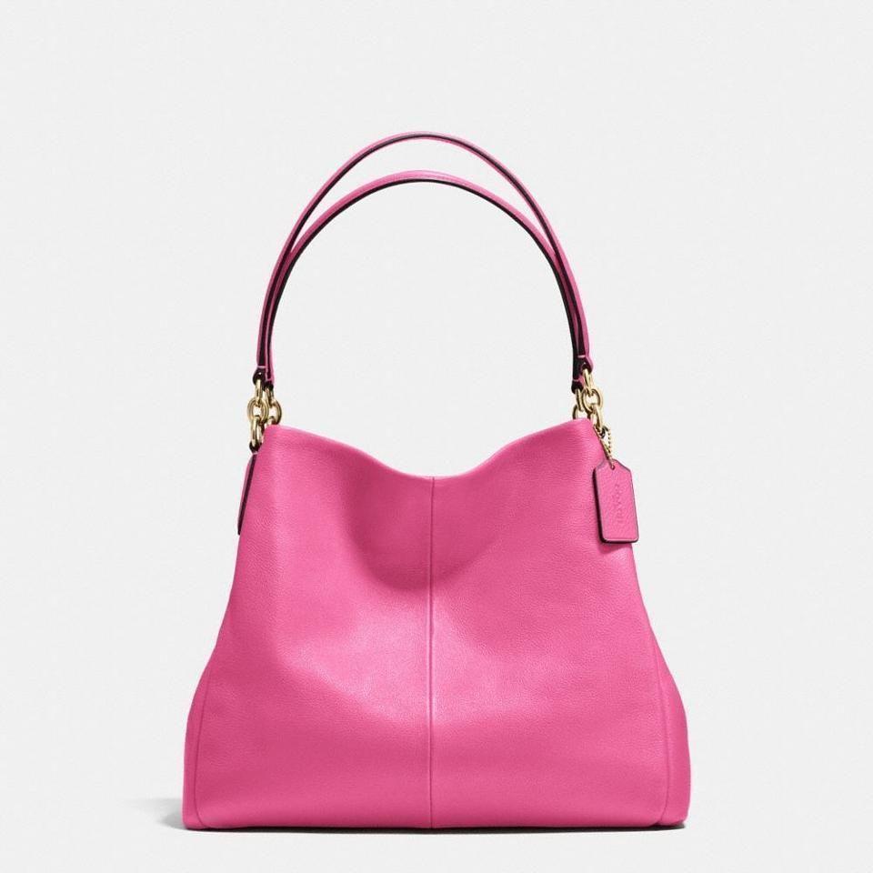 5b5aa14a28 ... sale coach phoebe triple compartment shoulder bag dahlia pink coach  shoulderbag f7912 e87f6 ...