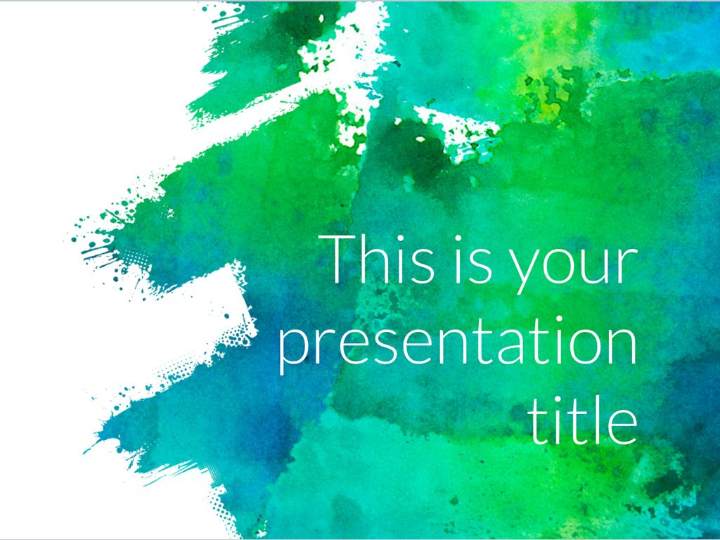 Free Art Powerpoint Template Or Slides Theme