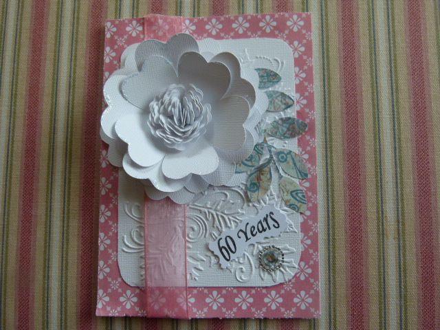 Anniversary card using cricut flower shoppe cartridge my homemade