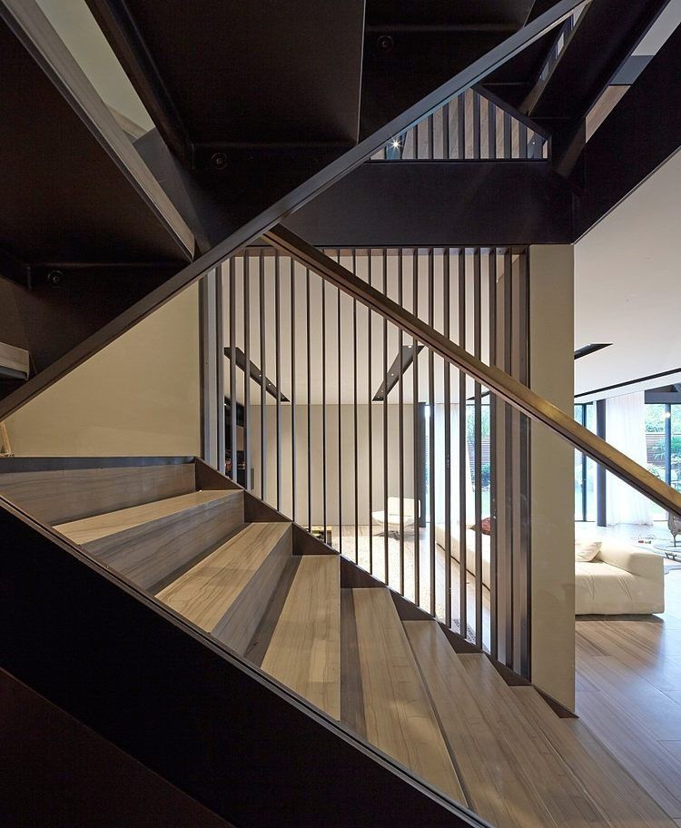 Unique And Creative Staircase Designs For Modern Homes: Unique Fitzroy Park Home Embedded In Lush Surroundings