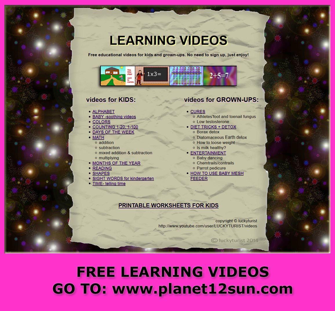 Free Videos Free Printable Worksheets Go To