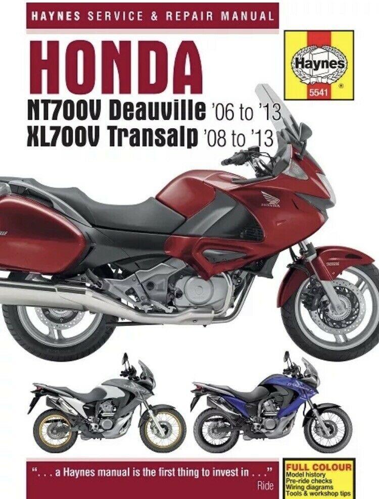 Honda Nt700v Deauville Xl700v Transalp 2006 2013 Haynes Manual 5541 New 699414011308 Ebay Deauville Honda Repair Manuals