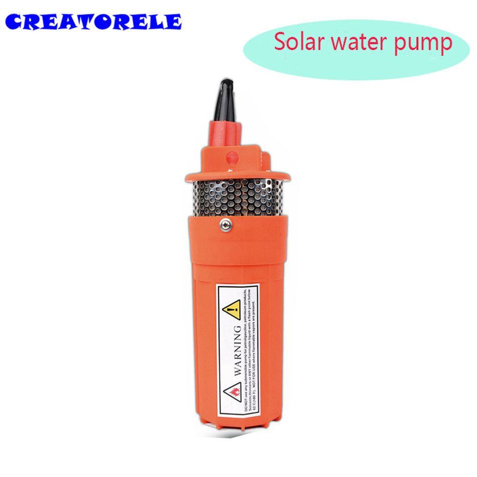 English manual 12v 360iph 70m small solar submersible water pump.