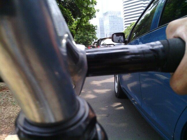 Traffic jam on jakarta, the coolest city!!