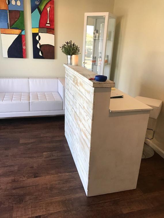 Reception Desk Made To Order Marina Etsy Salon Interior Design
