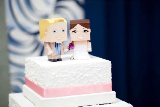 Dica de topo de bolo: Paper toys | Noiva.com por Gabrieli Chanas