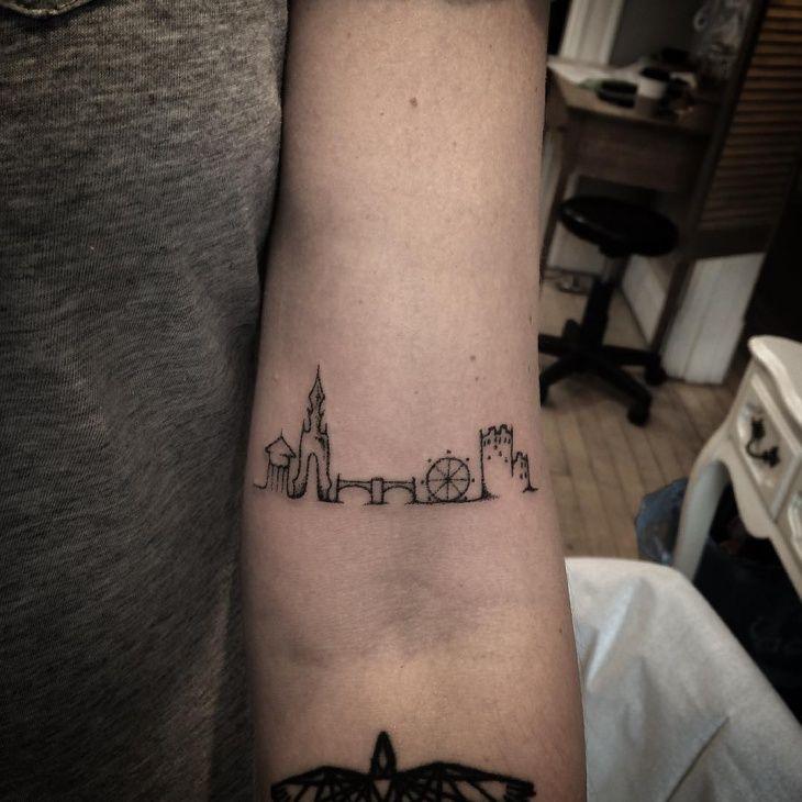 London Skyline Tattoo Idea