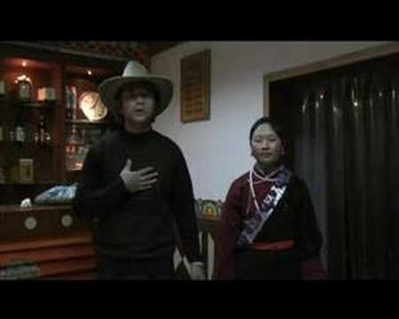 The Sixth Dalai Lama's prophetic song about his return to Lithang in Kham. It is performed here by Gela (teacher of Tibetan songs and culture)