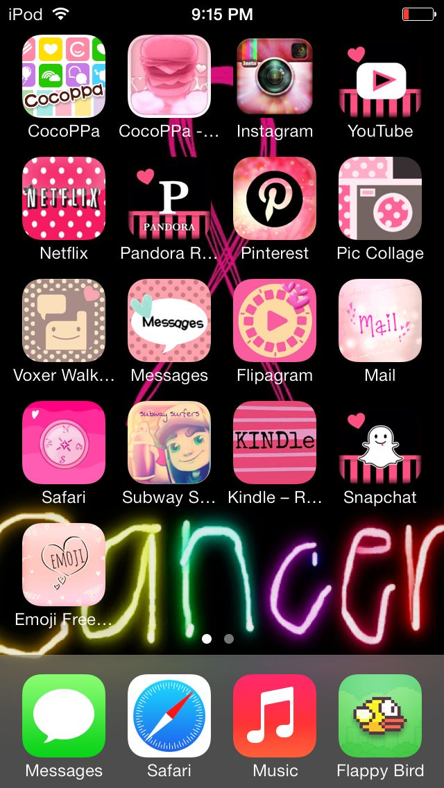 Cocoppa Iphone organization, Iphone apps, Iphone layout