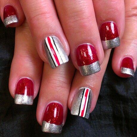 ohio state buckeye nails buckeyes