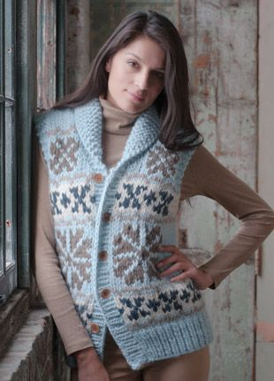 21 CHUNKY FAIR ISLE VEST | Knit - multi color | Pinterest