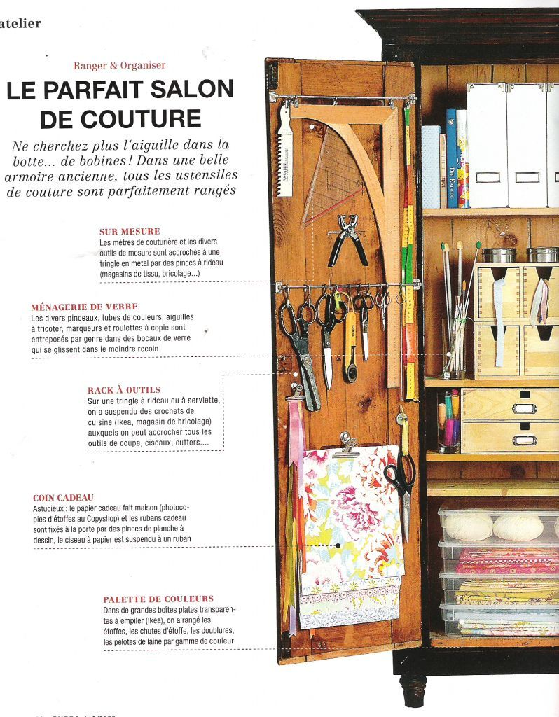 rangement | workshop ideas | pinterest | atelier couture, atelier