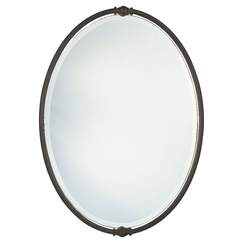 Sherise Bronze Oval Mirror Oval Mirror Bronze Mirror Mirror