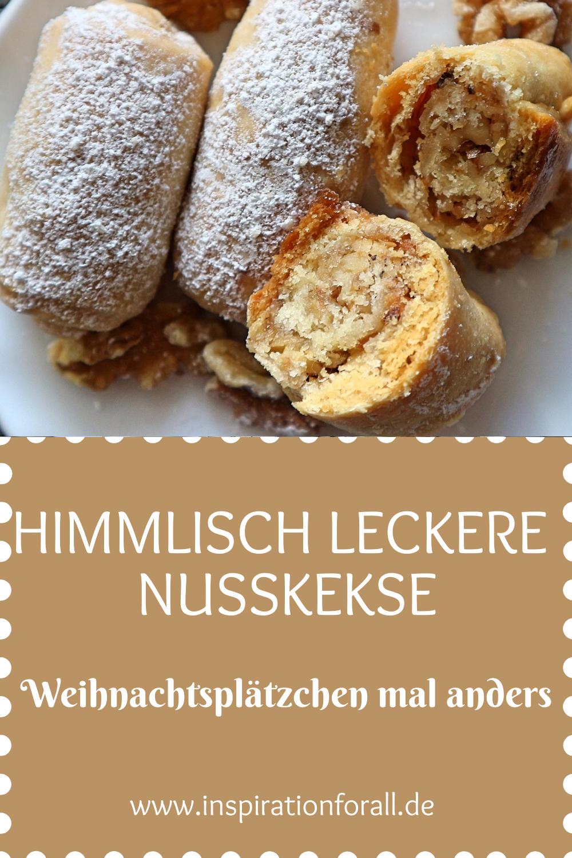 Barmak – einfaches Rezept für leckere Kekse mit Walnuss-Füllung #leckerekuchen