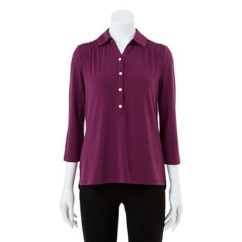 Dana Buchman Shirred Shirt - Women's