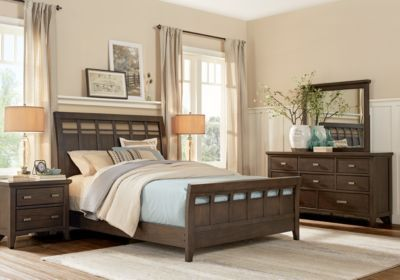 Hammond Hill Brown Pc King Sleigh Bedroom Forever Home - Bedroom furniture browns plains
