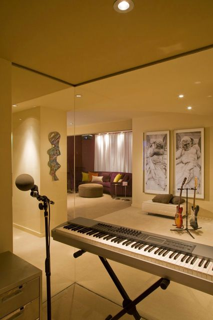 Cool home music studio area design also outstanding offices rh br pinterest