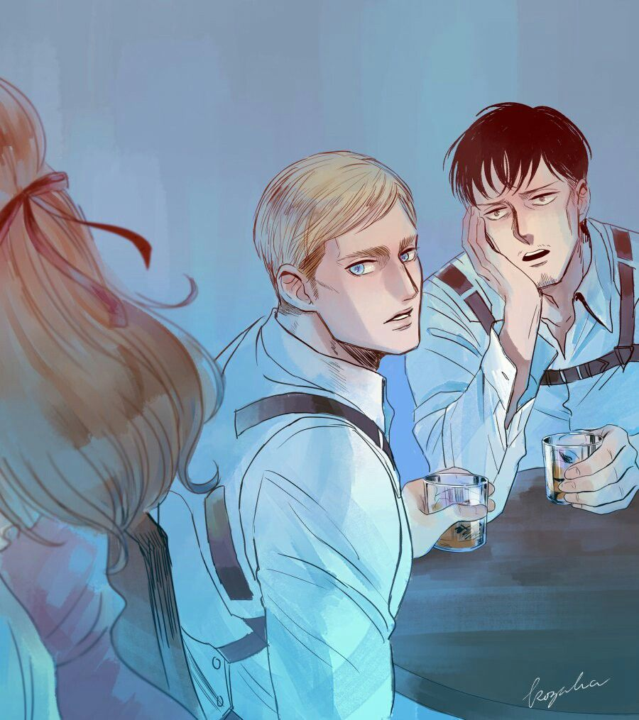 Erwin Smith And Nile Aot Attack On Titan Anime Attack On Titan Art Attack On Titan Levi