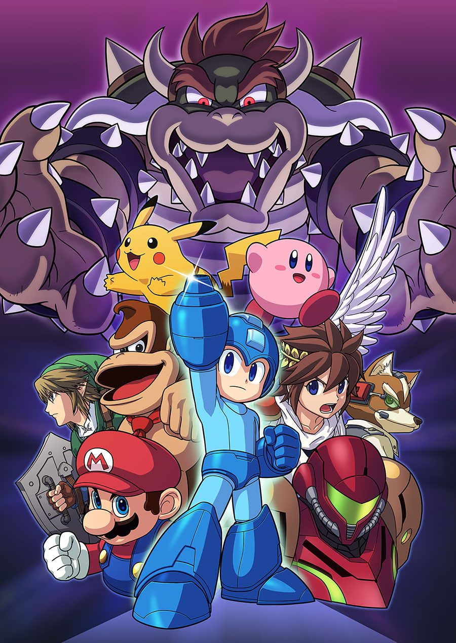 Super Smash Bros For 3DS And Wii U Character Poster