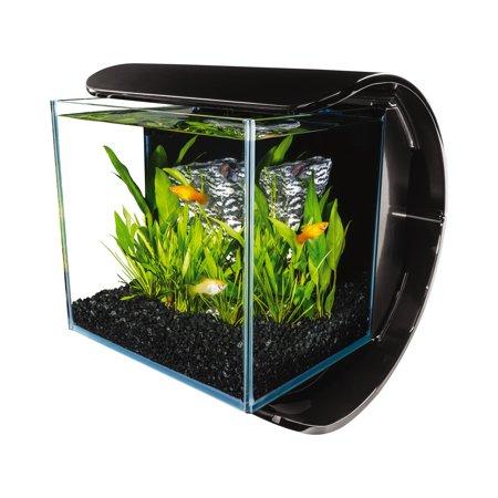 marineland silhouette glass 3 gallon led aquarium kit multicolor