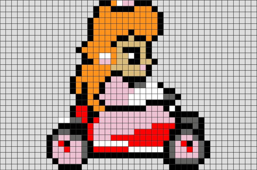 Mario Kart Princess Peach Pixel Art Pixel Art Lego Art Pixel Art Design