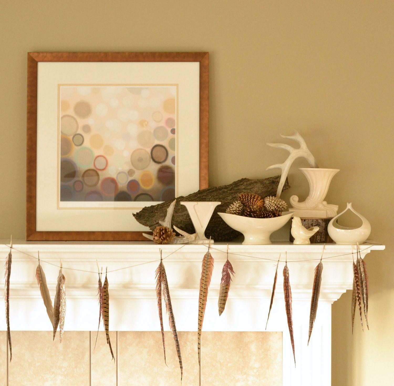 Glitter Feather Garland - Wedding Garland - Wedding Decoration ...
