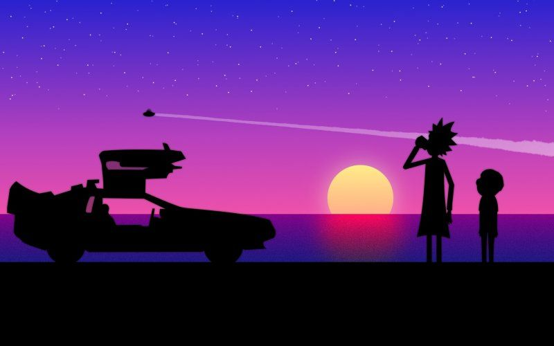 Rick And Morty Silhouette Art Wallpaper Desktop Wallpaper Art Wallpaper Hypebeast Wallpaper