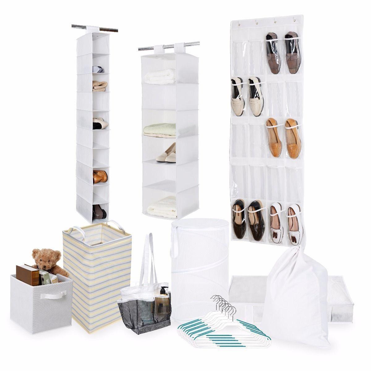 Tidy Living Bundle - Organization Storage Solution Set - Shower ...