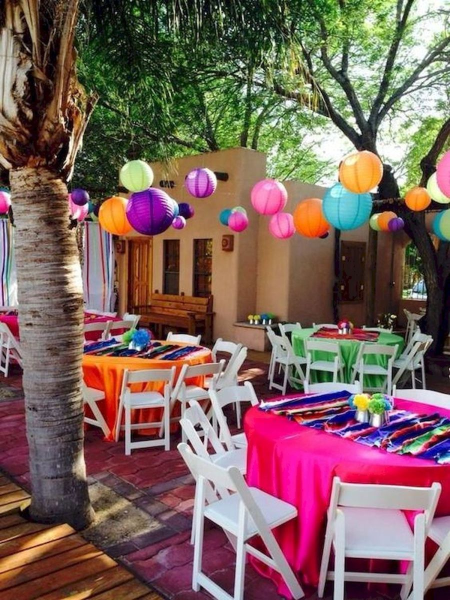 60 Inspiring Outdoor Summer Party Decoration Ideas 63 Mexican