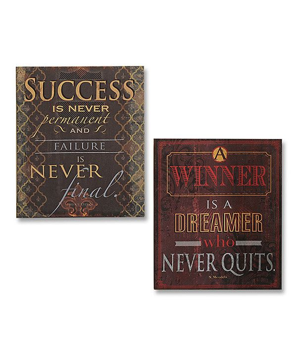Look at this Motivational Canvas Set on #zulily today!