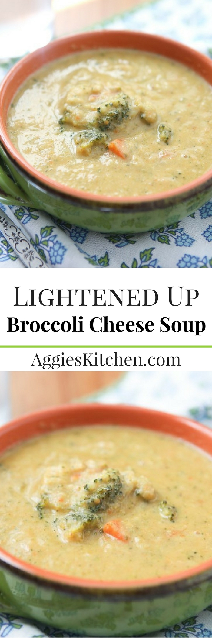 Filled with lots of veggies, this Broccoli Cheese Soup hits the spot (and is lighter than most creamy soups!)